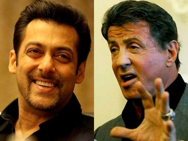 Sylvester Stallone. Expendables with Salman Khan