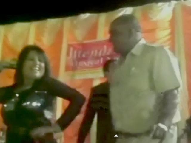 Vadodara cops caught dancing with woman while on duty