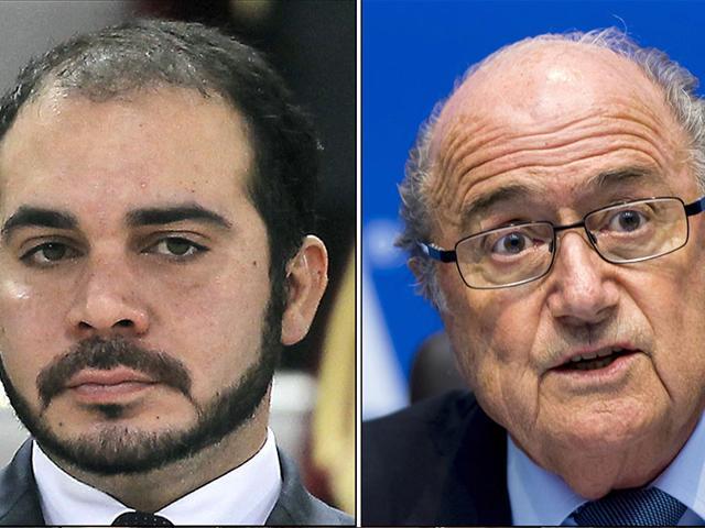 File-photos-of-Jordan-s-Prince-Ali-bin-al-Hussein-and-FIFA-president-Sepp-Blatter-AFP-Photo