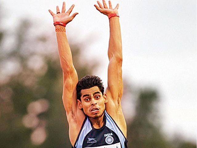 Ankit-Sharma-won-the-gold-medal-at-the-Kerala-National-Games-after-his-record-leap-of-8-04-metres-and-won-the-Federation-Cup-HT-photo