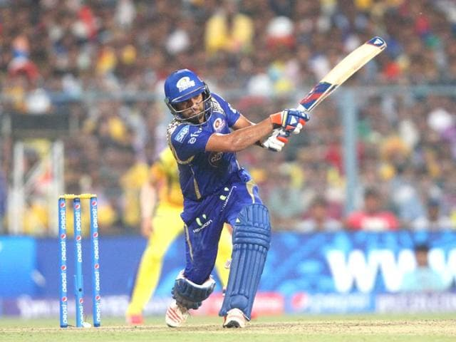 MI-skipper-Rohit-Sharma-who-was-adjudged-Player-of-the-Match-has-come-in-from-much-praise-from-experts-for-his-leadership-skills-MI-began-IPL8-with-four-losses-in-a-row-before-scripting-a-remarkable-turnaround-Ajay-Aggarwal-HT-Photo