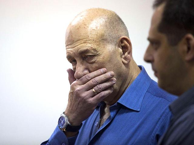 Israel-s-former-Prime-Minister-Ehud-Olmert-at-the-Tel-Aviv-District-Court-in-Israel-AP-Photo