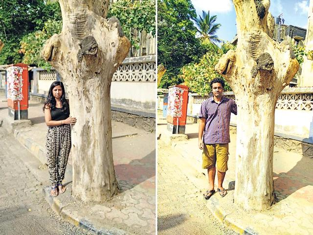 Two-Versova-residents-Neha-Singh-and-Dhruv-Lohumi-have-started-a-petition-asking-civic-chief-Ajoy-Mehta-to-stop-the-hacking-of-trees-HT-photo