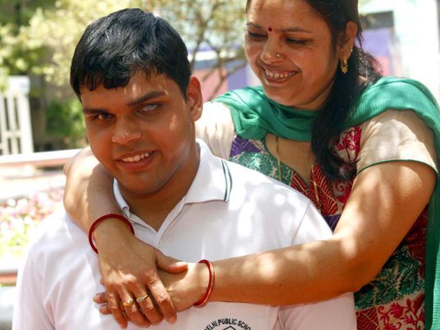 Visually-impaired-Tapas-Bhardwaj-who-scored-91-4-in-CBSE-12th-board-exams-HT-photo