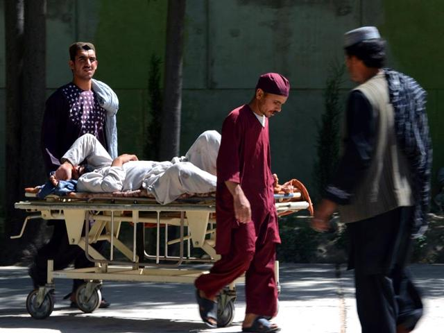 An-injured-man-being-taken-to-receive-medical-attention-after-an-attack-in-Zabul-earlier-in-the-day-AFP-Photo