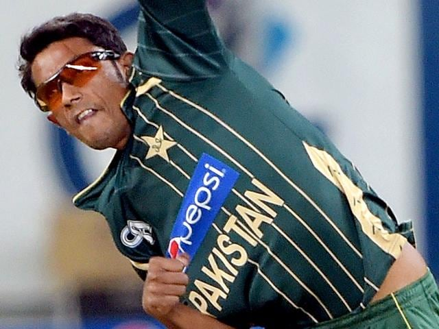Pakistani-spinner-Raza-Hasan-delivers-the-ball-during-the-second-and-last-International-T20-cricket-match-at-the-Dubai-International-Stadium-in-Dubai-AFP-PHOTO