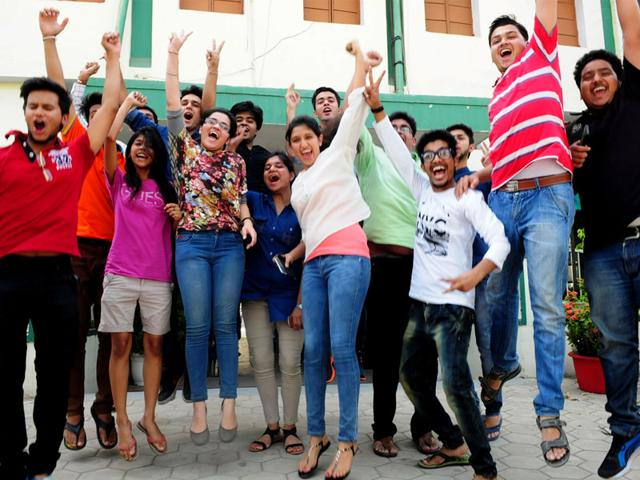 St-Joseph-School-students-celebrate-their-success-in-CBSE-class-12-examinations-in-Bhopal-on-Monday-Mujeeb-Faruqui-HT-photo