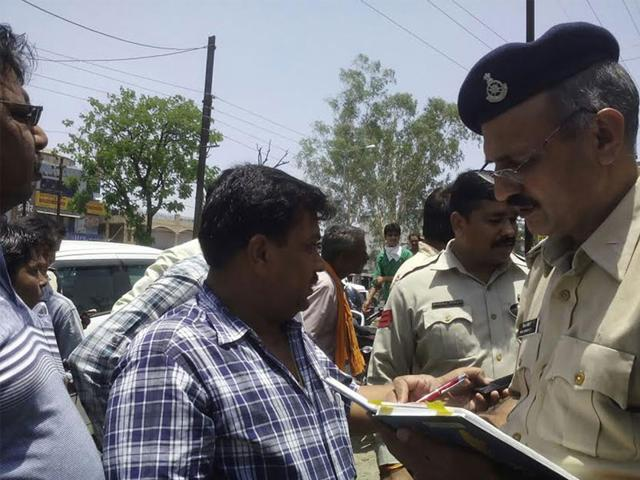 City-superintendent-of-police-TS-Baghel-said-that-the-modus-operandi-of-the-loot-suggested-a-well-hatched-conspiracy-HT-photo