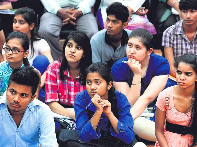 Delhi-University-aspirants-attend-the-Open-Day-Session-on-Tuesday-Sushil-Kumar-HT-photo