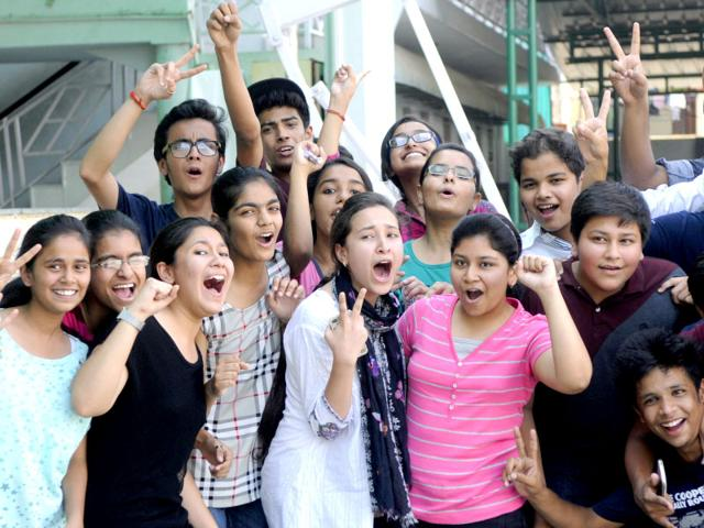 After-declaration-of-Class-10-results-students-celebrating-their-success-HT-file-Photo-Deepak-Gupta