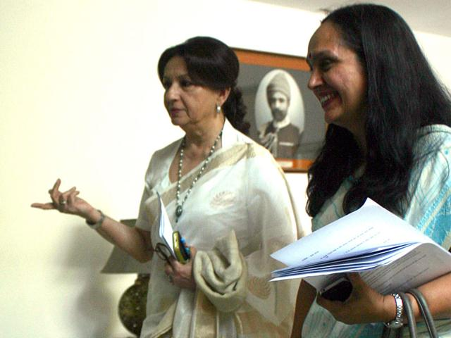 Film-actress-of-yesteryears-Sharmila-Tagore-was-in-Bhopal-on-Friday-Bidesh-Manna-HT-photo