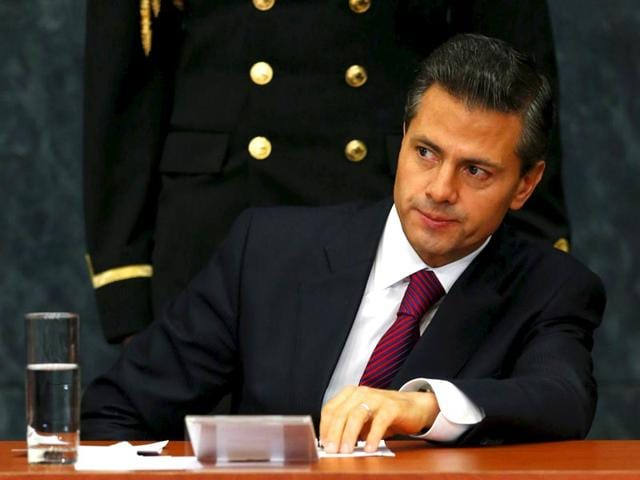 Mexico-s-President-Enrique-Pena-Nieto-during-an-investment-announcement-from--brewer-Grupo-Modelo--at-Los-Pinos-Presidential-house-in-Mexico-City-on-Friday-Reuters-Edgard-Garrido