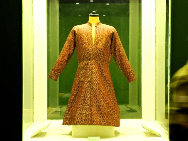 At-the-ongoing-Art-of-Calligraphy-and-Beyond-A-royal-costume-at-the-exhibition-at-the-National-Museum-in-Delhi-which-is-on-until-July-12-All-photos-Saumya-Khandelwal-HT