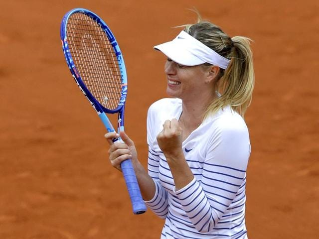 Russia-s-Maria-Sharapova-celebrates-winning-her-third-round-match-of-the-French-Open-against-Australia-s-Samantha-Stosur-in-two-sets-6-3-6-4-at-Roland-Garros-in-Paris-France-AP-Photo