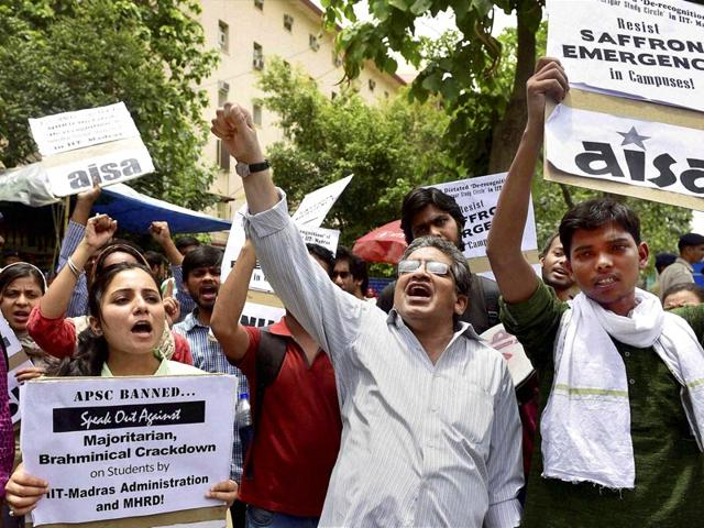 IIT-Madras,APSC,ban on students' body by IIT-M