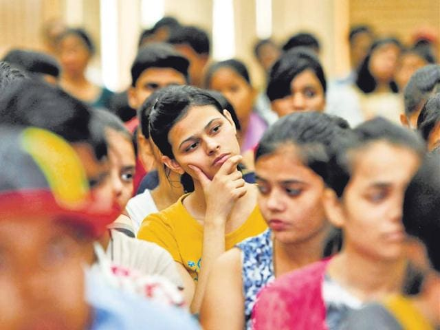 As-many-as-54-000-seats-in-61-colleges-are-up-for-grabs-The-process-began-on-Thursday-with-online-registrations-Sushil-Kumar-HT-file-photo