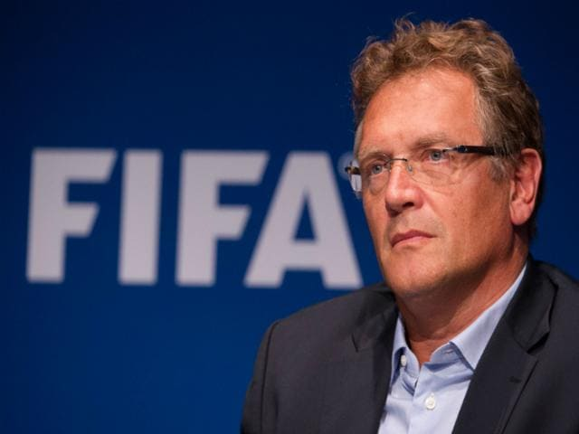 FIFA-Secretary-General-Jerome-Valcke-at-the-end-of-a-Fifa-Executive-Committee-meeting-in-Zurich-after-formalizing-his-candidacy-for-a-5th-mandate-at-the-head-of-Fifa-According-to-reports-federal-authorities-believe-Valcke-made-some-10-million-in-bank-transactions-being-probed-in-the-ongoing-Fifa-bribery-scandal-AFP-File-Photo