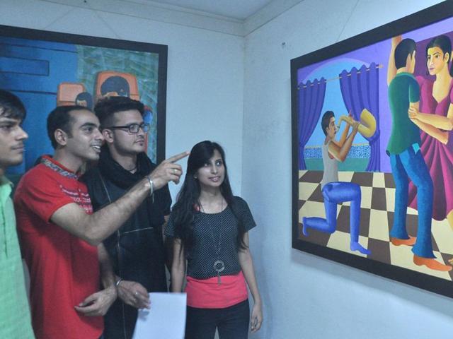 Chandigarh: Art exhibition at Kalagram complex begins