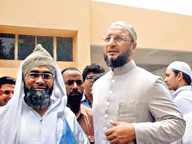Hyderabad-MP-Asaduddin-Owaisi-with-victims-of-the-Atali-violence-HT-Photo