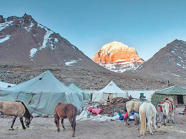 The-Kailash-mountain-at-first-light-of-sunrise-in-Tibet-China-has-closed-border-points-that-lead-to-the-mountain-in-view-of-landslides-following-the-April-25-earthquake-ShutterStock-Photo