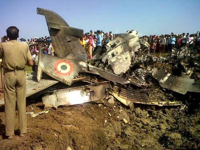 An-Indian-Air-Force-IAF-advanced-trainer-aircraft-crashed-at-Kudarsahi-in-Odisha-s-Mayurbhanj-district-at-about-11-30-am-on-wednesday-Arabinda-Mahapatra-HT-Photo