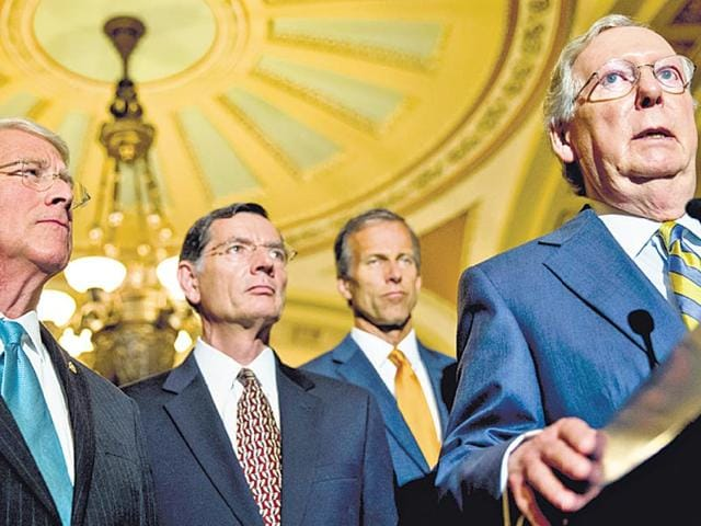Senate-majority-leader-Mitch-McConnell-R-speaks-to-the-press-in-Washington-McConnell-who-opposed-the-USA-Freedom-Act-was-dubbed-the-biggest-political-loser-after-it-was-passed