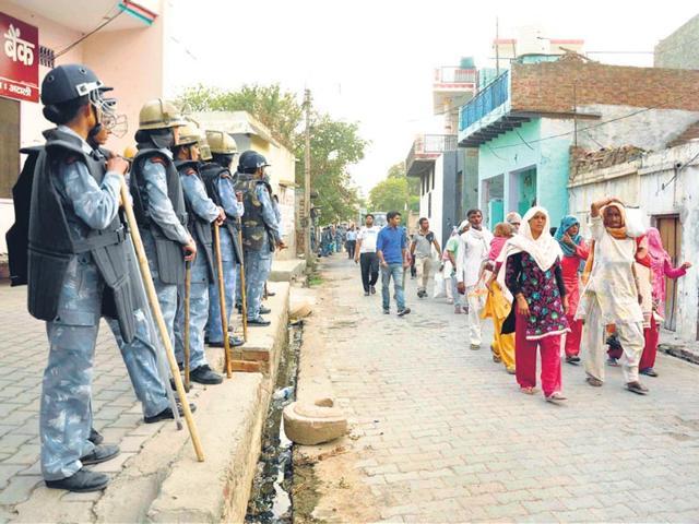 Ten days after communal violence in Ballabgarh, Muslims return home