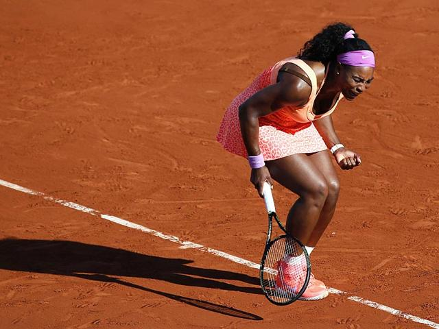 Serena-Williams-of-the-United-States-reacts-as-she-plays-Timea-Bacsinszky-of-Switzerland-during-their-semi-final-match-of-the-French-Open-in-Paris-France-AP-Photo