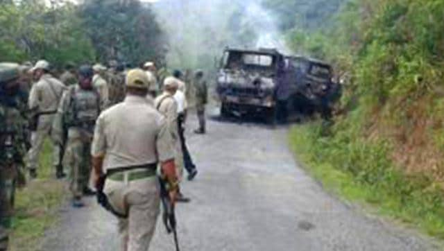Militants armed with advanced weapons ambushed a military convoy in Manipur's Chandel district bordering Myanmar.