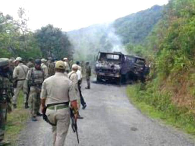 Militants-armed-with-advanced-weapons-ambushed-a-military-convoy-in-Manipur-s-Chandel-district-bordering-Myanmar-killing-at-least-18-soldiers-PTI-Photo