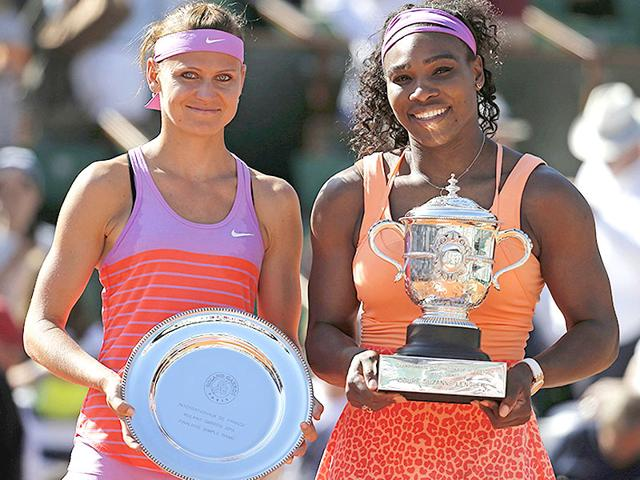 Serena-Williams-R-poses-with-Lucie-Safarova-during-the-trophy-ceremony-after-she-won-the-2015-French-Open-women-s-singles-final-at-Roland-Garros-in-Paris-on-June-6-Reuters-Photo