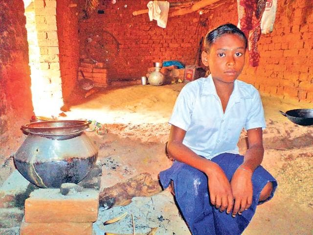 Sombari-Sabar-lives-alone-in-a-hut-in-Dumuria-forest-HT-Photo