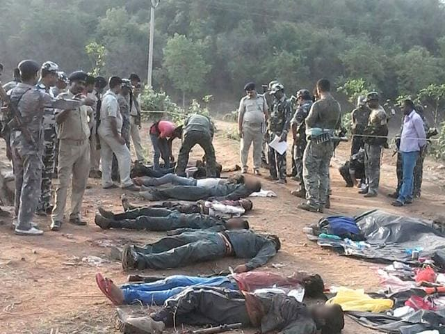 12-Maoist-rebels-were-gunned-down-by-security-forces-in-Jharkhand-s-Palamu-HT-Photo