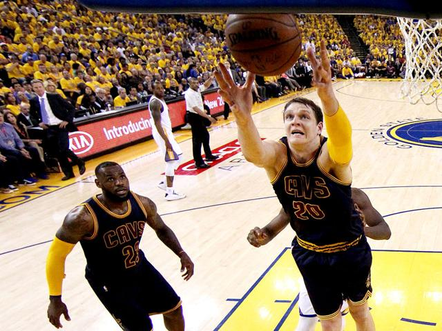 NBA Finals: Russian Mozgov pulls his weight for injury-hit Cavaliers