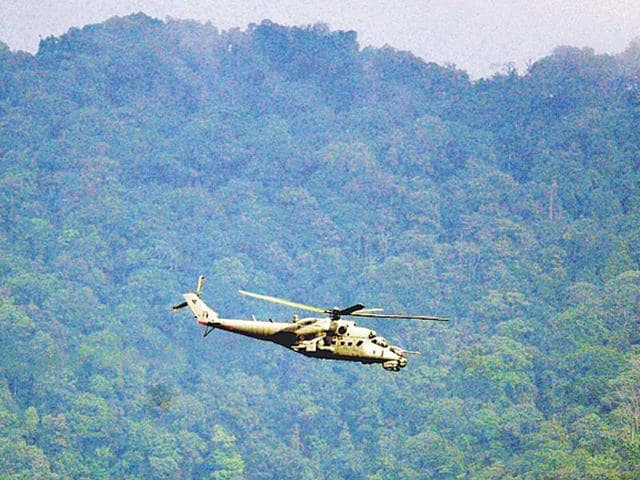 This-Mi-35-chopper-was-one-of-five-flying-in-the-direction-of-the-Manipur-Myanmar-border-near-Haflong-on-June-6-Biju-Boro-HT-Photo