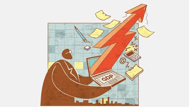 A Reuters survey of economists expected data out on Tuesday will show India's gross domestic product grew 7.5 percent year-on-year between January and March, faster than the previous quarter's 7.3 percent.(Illustration: Abhimanyu Sinha)