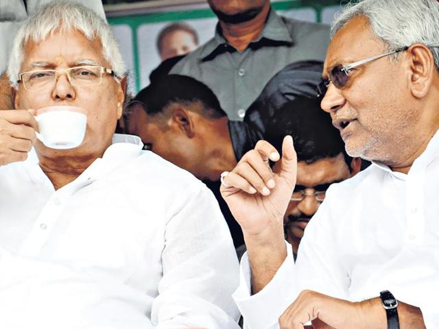 Leaders-of-the-Janata-Dal-United-the-Rashtriya-Janata-Dal-and-the-Samajwadi-Party-announced-the-decision-to-project-JD-U-leader-Nitish-Kumar-as-the-chief-ministerial-candidate-in-New-Delhi-on-Monday-HT-Photo