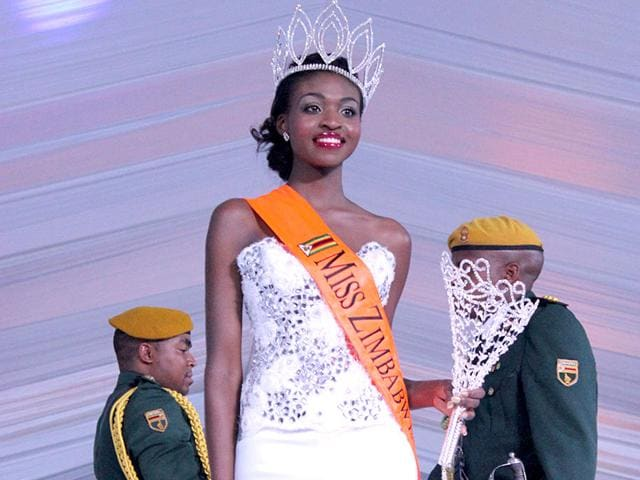 Miss Zimbabwe stripped of her title for posing nude   Daily Mail Online