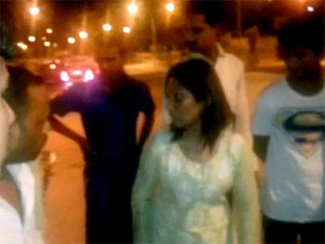 Janhavi-Gadkar-35-year-old-Mumbai-advocate-driving-her-Audi-Q3-on-the-wrong-side-of-the-Eastern-Freeway-crashed-into-a-taxi-killing-two-people-and-injuring-four-early-Photo-Video-grab