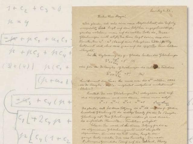 This-is-one-of-many-letters-that-was-offered-for-sale-on-Thursday-The-handwritten-1932-letter-was-addressed-to-his-assistant-Viennese-mathematician-Walther-Mayer-and-discusses-adjustments-in-mathematical-equations-It-sold-for-25-000-Source-Profiles-in-History