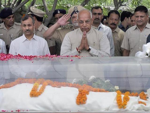 Nek Chand,Rock Garden,Nek Chand funeral
