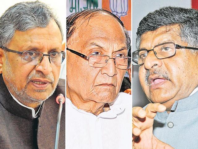 BJP-veteran-leaders-in-Bihar-Sushil-Kumar-Modi-CP-Thakur-Ravi-Shankar-Prasad