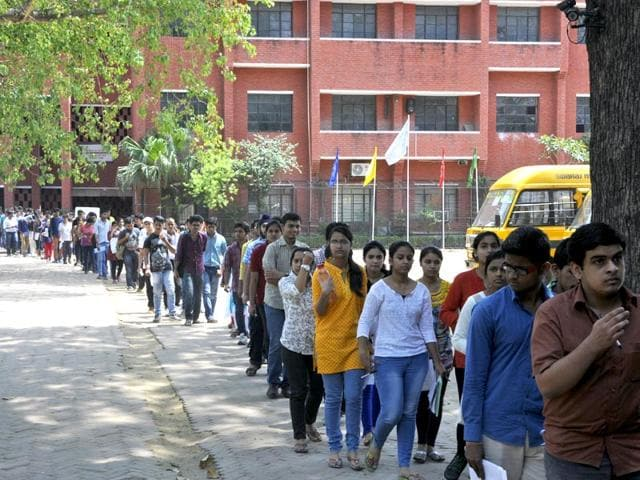A-file-photo-of-students-coming-out-of-an-examination-center-after-appearing-for-the-All-India-Pre-Medical-Pre-Dental-Entrance-Test-in-Jaipur-Rajasthan-Himanshu-Vyas-HT-Photo