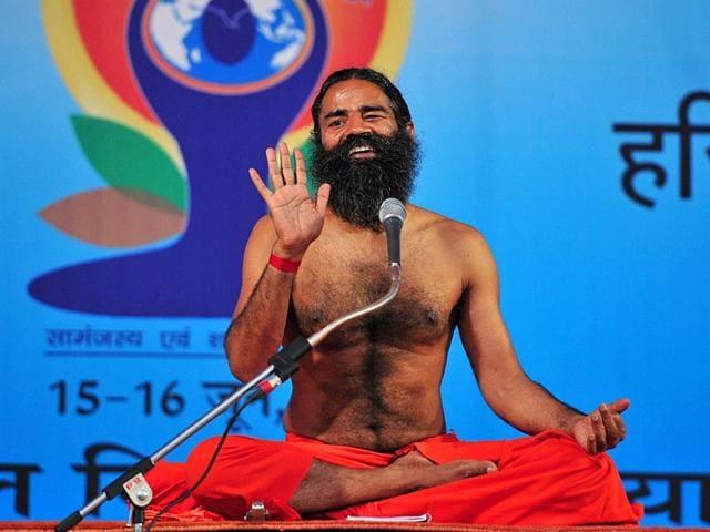 Yoga-guru-Ramdev-conducting-a-two-day-Shivir-at-Panchkula-Keshav-Singh-HT-Photo