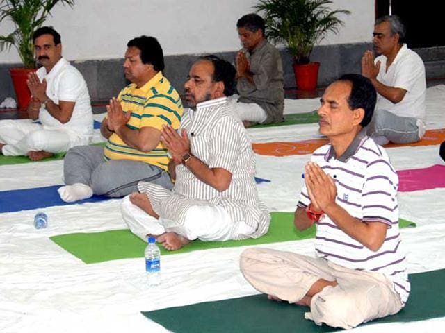 Bhopal-is-all-set-to-celebrate-International-Yoga-Day-on-Sunday-HT-photo