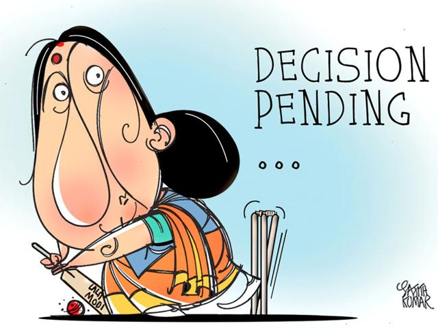 Sushma-Swaraj--has-landed-in-a-controversy-for-helping-former-IPL-chief-Lalit-Modi--Cartoon-by-Sajith-Kumar