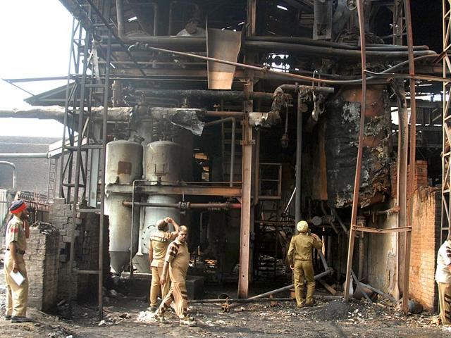 An-industrial-unit-that-was-gutted-after-a-boiler-blast-in-Khanna-in-2012-Such-incidents-continue-to-claim-lives-of-workers-HT-File-Photo