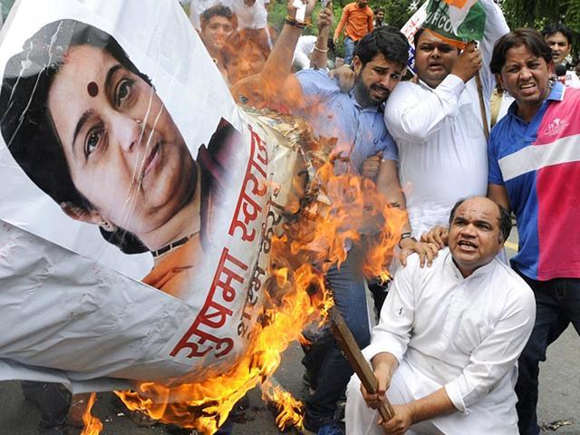Sushma Swaraj,Lalit Modi,Arun Yadav