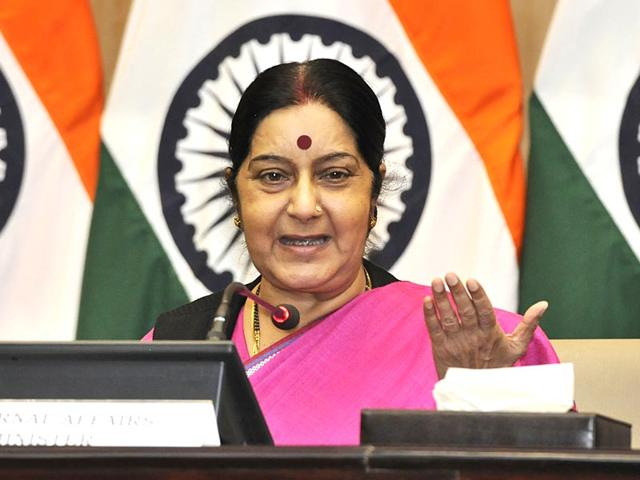 Sushma Swaraj,China,Xi Jinping
