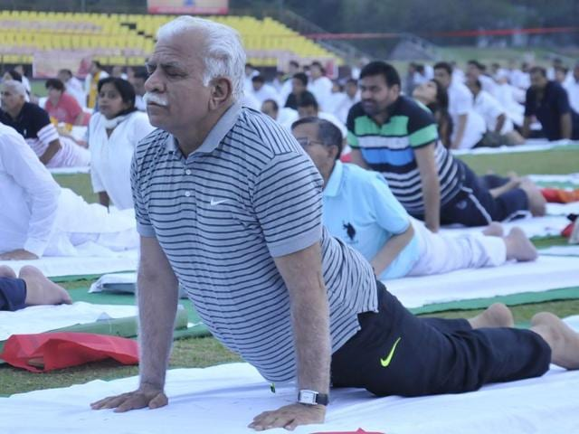 International Yoga Day in Haryana: BJP govt proposes, Cong disposes